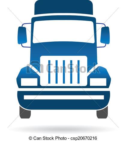 420x470 Truck Front Image Logo. Truck Front Image Vector Clip Art
