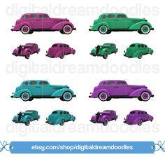 236x227 Car Clipart, Classic Buick Clip Art, Car Png Image, Vintage Car