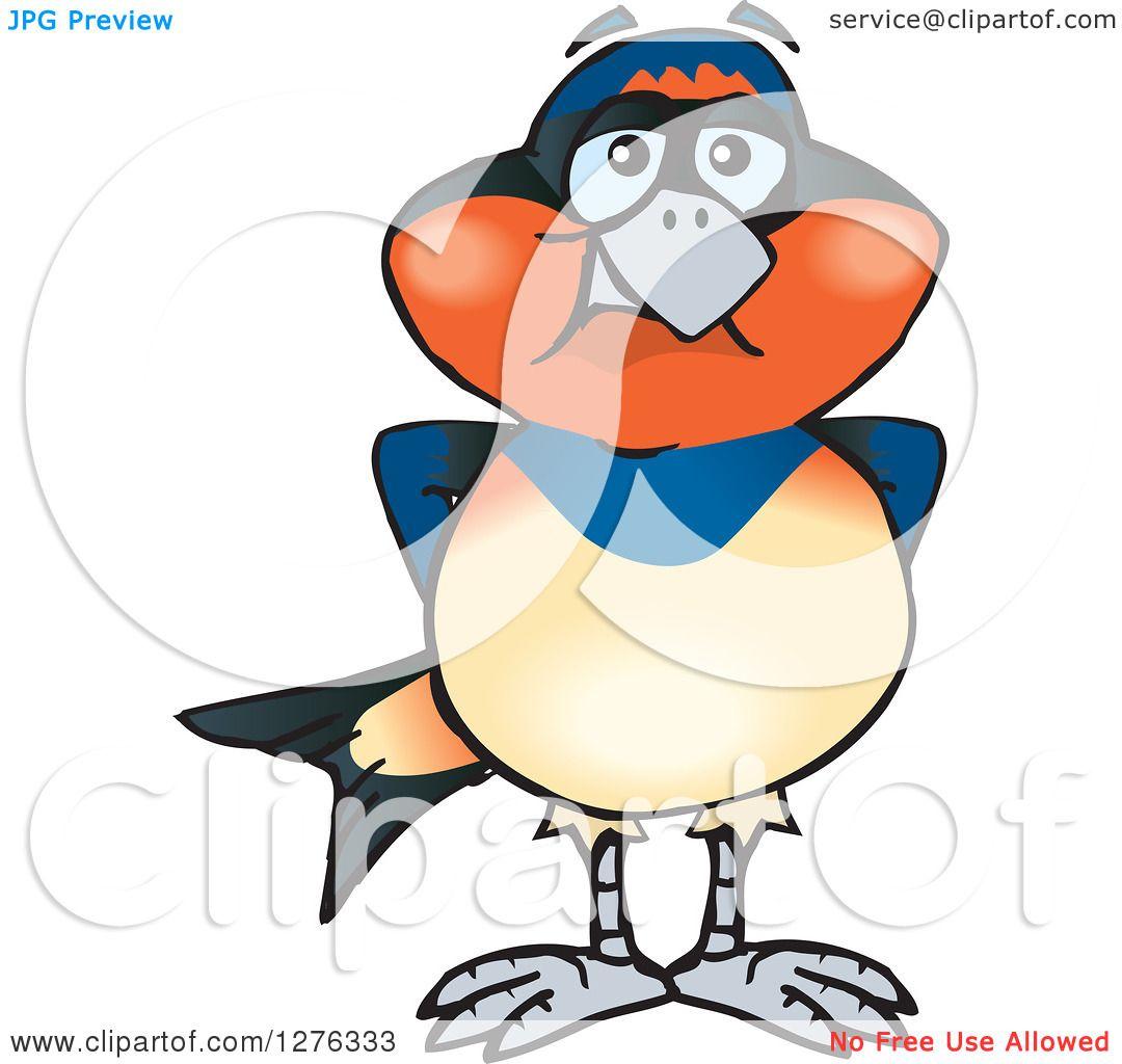 1080x1024 Clipart Of A Swallow Bird Standing
