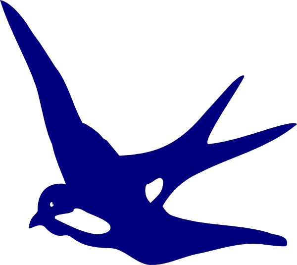 600x535 Swallow Blue Clip Art