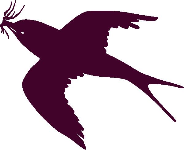 600x491 Swallow Purple Clip Art