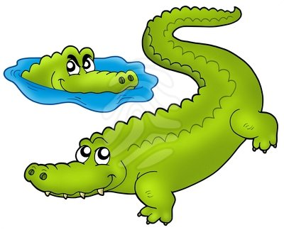 400x324 Crocodile Clip Art Clipartlook