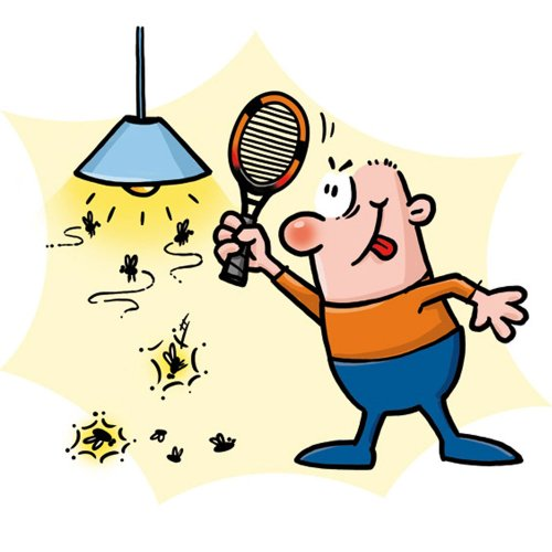 500x500 Bugs Clipart Fly Swatter