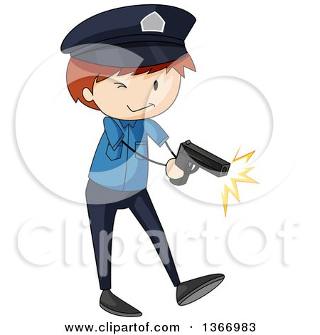 450x470 Clipart Of A Male Police Officer By A Fuel Truck On A Street
