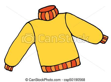 450x334 Hand Drawn Sweater Doodle Cartoon Illustration. Hand Drawn Clip