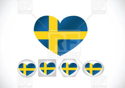 400x284 Heart Shaped Flag Of Sweden Royalty Free Vector Clip Art Image