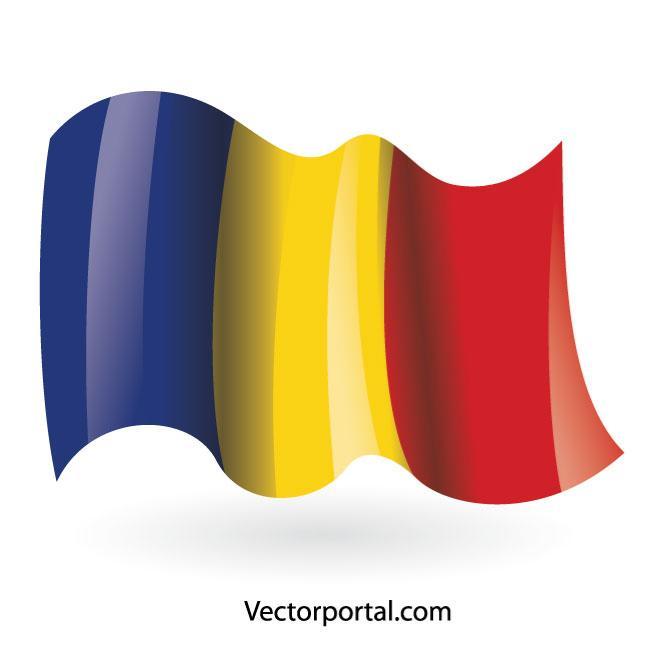 660x660 Romanian Flag Vector Clip Art