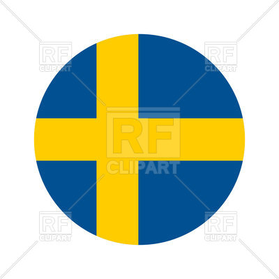 400x400 Round Icon Of Sweden Flag Royalty Free Vector Clip Art Image