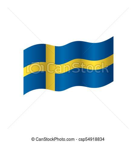 450x470 Sweden Flag, Vector Illustration On A White Background Vectors