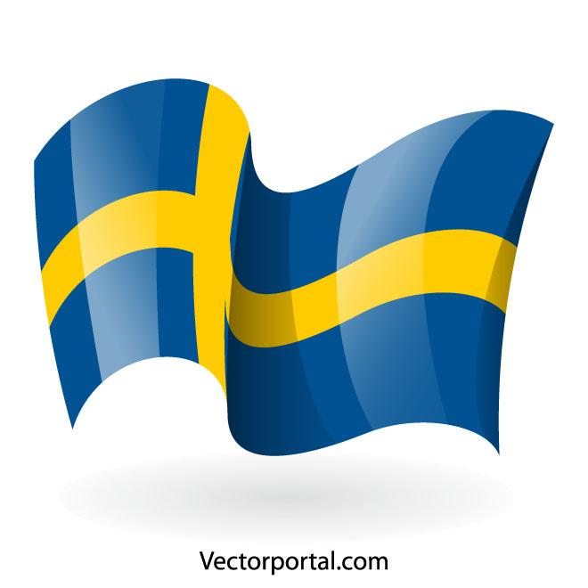 660x660 Swedish Flag Vector Graphics