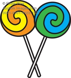 271x300 Clip Art Illustration Of Two Swirled Lollipops