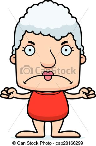 309x470 Cartoon Angry Woman Swimsuit. A Cartoon Woman Looking Angry Eps