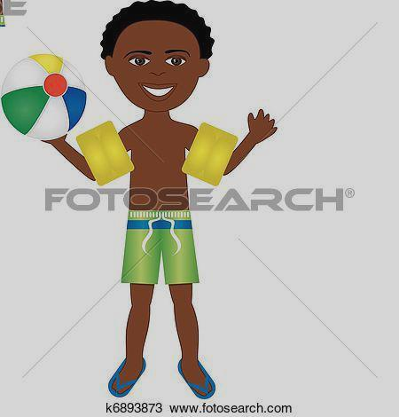 450x470 Clip Art Clipart Of Afro Boy Swimsuit K6893873 Zzzcnzd
