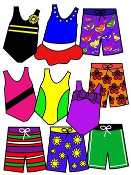 263x350 Bathing Suit Clip Art Color And Black And White Clip Art