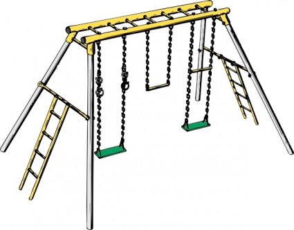 425x333 Free Download Of Swing Set Clip Art Vector Graphic