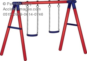 300x211 Playground Swing Set Royalty Free Clip Art Picture