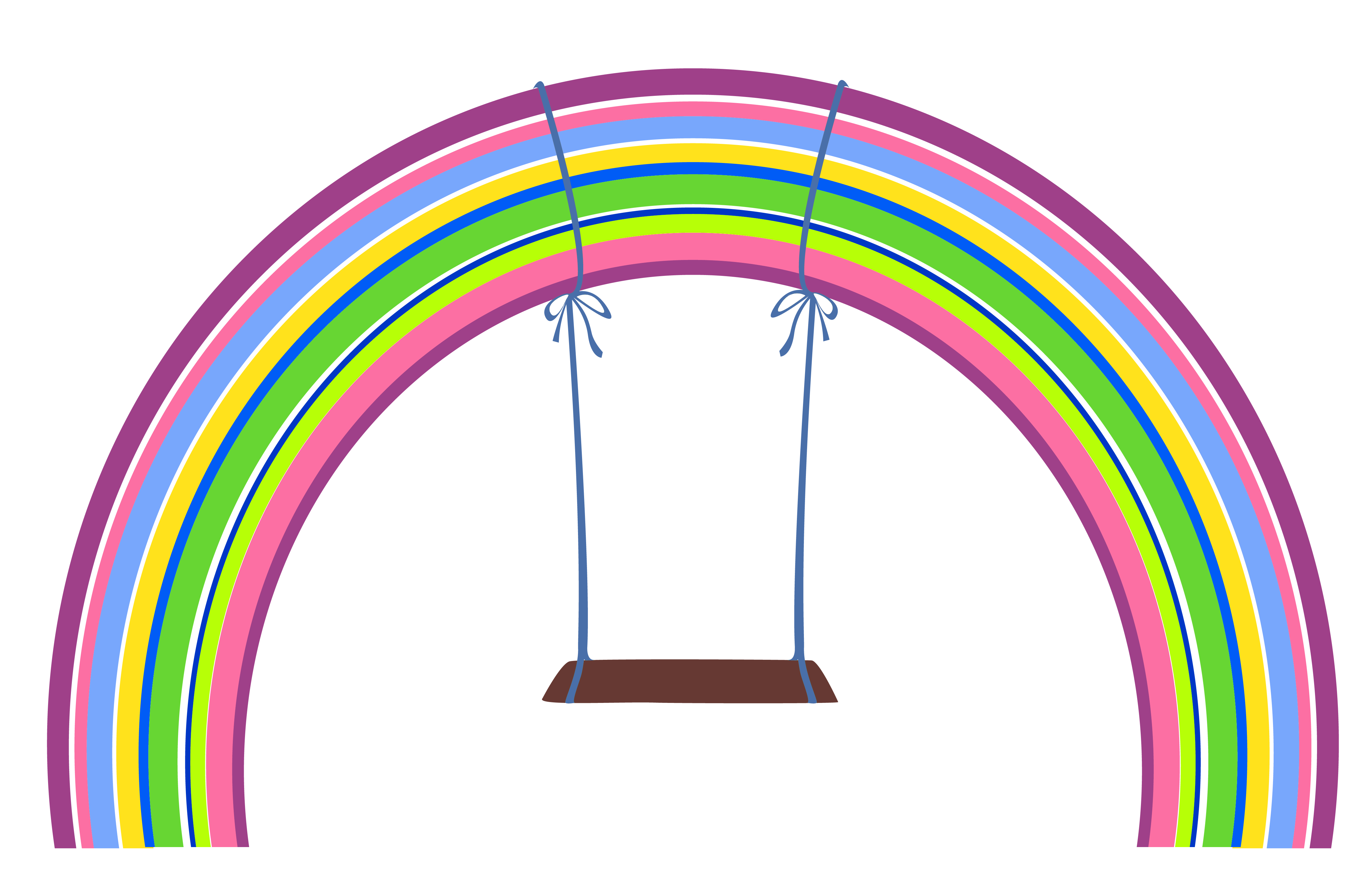 4724x3095 Rainbow With Swing Png Clipartu200b Gallery Yopriceville