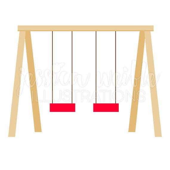 570x570 Swing Set Cute Digital Clipart Playground Clip Art Play