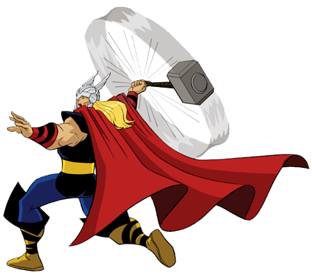 448x395 Thor Hammer Swing Disney Clipart Clip Art