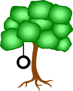 240x299 Tree With Swing Further Away Clip Art