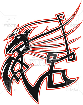 316x400 Celtic Dragon With Swing Wings Royalty Free Vector Clip Art Image
