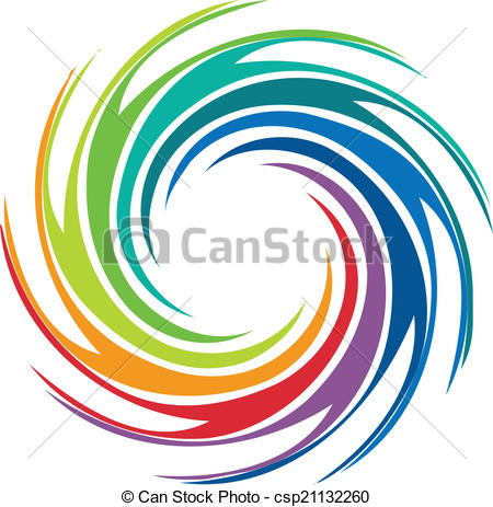 450x463 Abstract Colorful Swirl Image Logo. Abstract Colorful Swirl