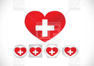 400x284 National Flag Of Switzerland Heart Shaped Royalty Free Vector Clip