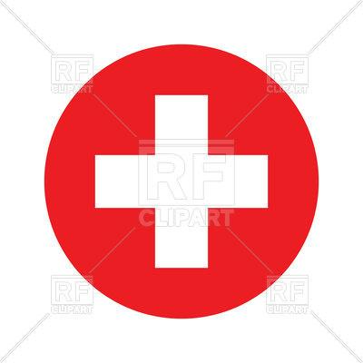400x400 Switzerland Circle Flag Royalty Free Vector Clip Art Image