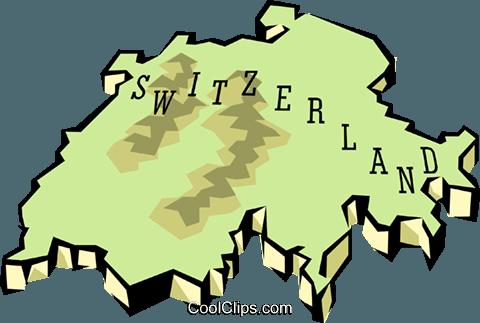 480x323 Switzerland Map Royalty Free Vector Clip Art Illustration