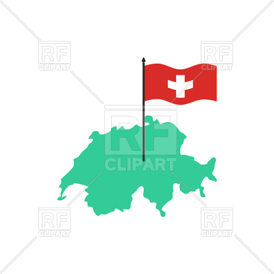 400x400 Switzerland Map And Flag Royalty Free Vector Clip Art Image
