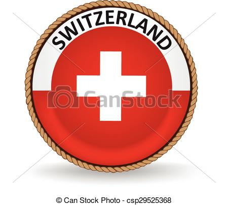 450x404 Switzerland Seal. Flag Seal Of Switzerland. Clip Art Vector