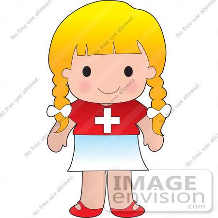 450x450 Clip Art Graphic Of A Blond Haired Poppy Character Of Switzerland
