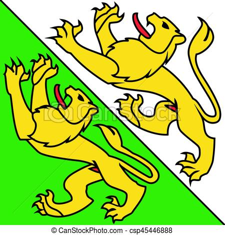 450x470 Flag Of Canton Of Thurgau, Switzerland. Vector Format Vector
