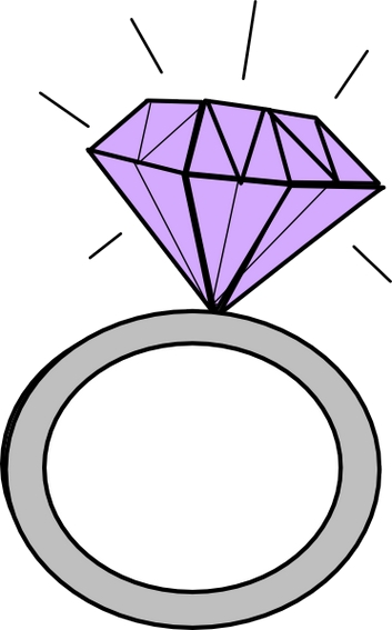 353x567 Engagement Ring Cartoon Clipart