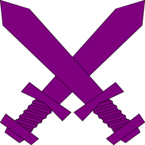 300x300 Purple Crossed Swords Clip Art
