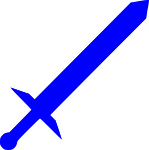 297x299 Royal Blue Sword Clip Art