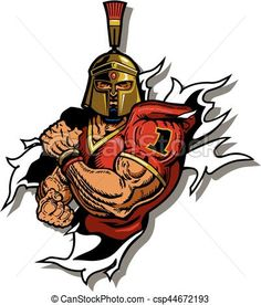 236x276 Royalty Free Clip Art Vector Logo Of A Spartan Warrior Stabbing