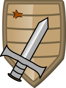 222x298 Sword And Shield Clip Art
