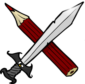 299x297 Crayon And Sword Clip Art