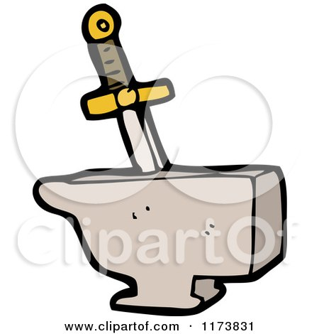 450x470 Royalty Free (RF) Sword In The Stone Clipart, Illustrations