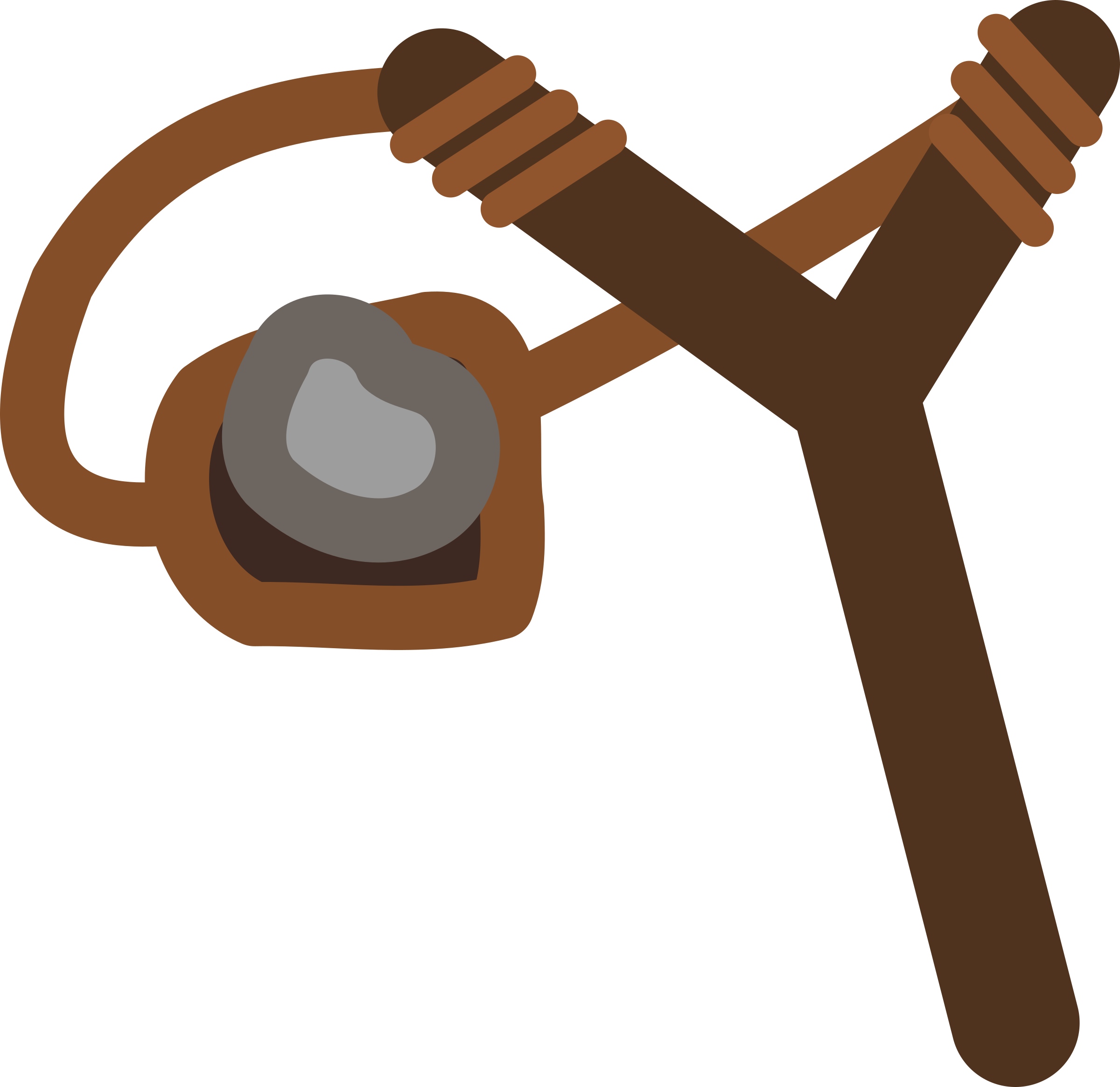 2400x2331 Slingshot With Stone Icons PNG