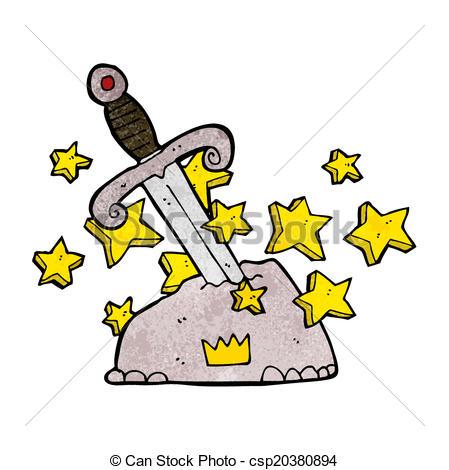 449x470 Cartoon magical sword in stone eps vectors