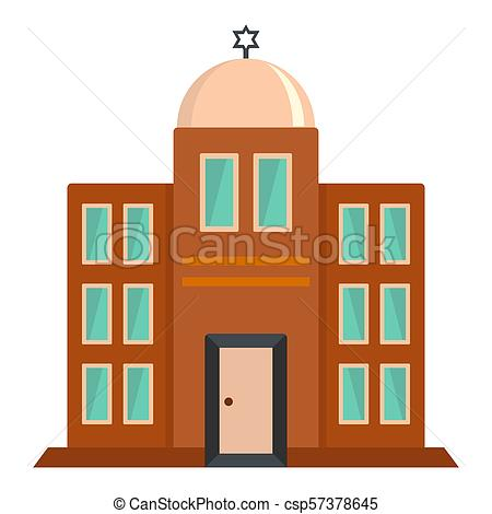 450x470 Synagogue Icon, Flat Style. Synagogue Icon. Flat Drawing