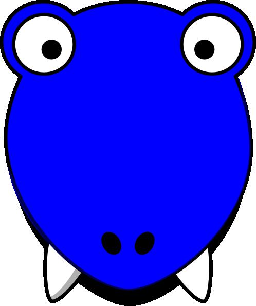 498x595 Blue T Rex Head Clip Art