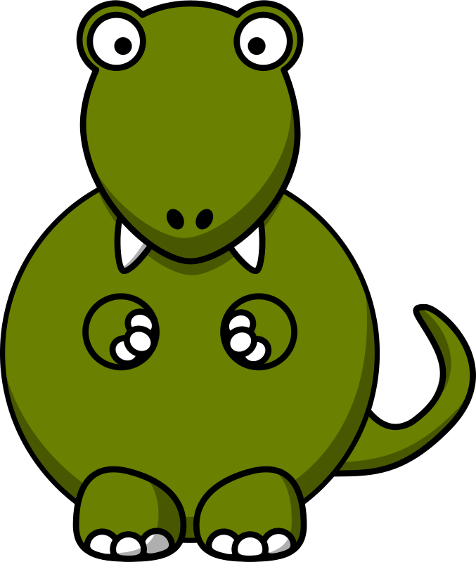 677x800 Free Clipart Cartoon Tyrannosaurus Rex Studiofibonacci