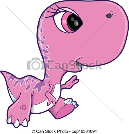 450x467 Pink Girl Tyrannosaurus Rex Dinosaur Vector Illustration Art Eps