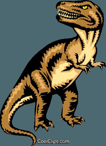 349x480 Tyrannosaurus Rex Royalty Free Vector Clip Art Illustration