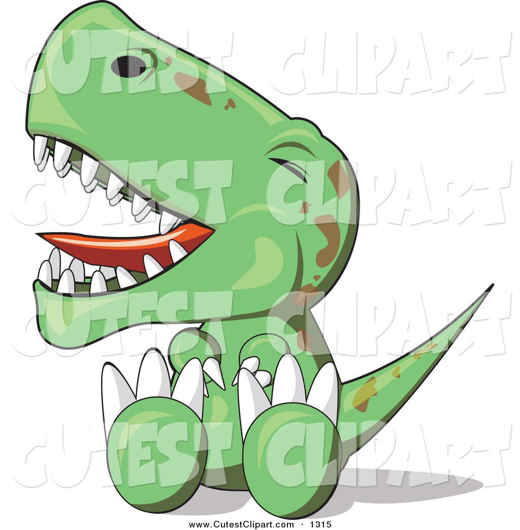 1024x1044 Vector Clip Art Of A Fussy Baby Green T Rex Dinosaur Sitting