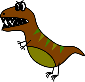 300x288 Dino Very Simple Bd Style T Rex Png, Svg Clip Art For Web