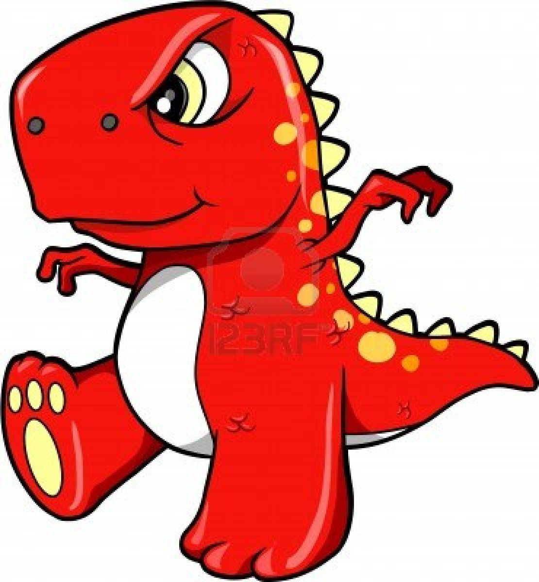 1110x1200 Angry Mean Red Dinosaur T Rex Vector Illustration Art Ollie